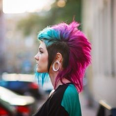 Blue, purple, and violet hair - fun colours like this are great, but if you need to remove the dye, there are ways to do this...