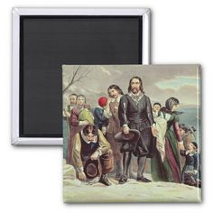 American School's The Landing of the Pilgrims at Plymouth, Massachusetts, December 22nd 1620 published by Currier & Ives (see also 97927) located at the Yale University Art Gallery, New Haven, CT, USA. The The Landing of the Pilgrims at Plymouth, Massachusetts, December 22nd 1620 published by Currier & Ives (see also 97927) was created around the 19th century. New Haven Yale, Yale School Of Art, Currier And Ives, Pilgrims, Round Magnets, Land Art, Paper Cover, Landing, 19th Century