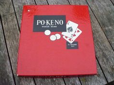 Vintage PO-KE-NO Poker Keno game. $11.00, via Etsy.