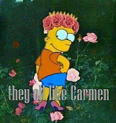 Lol cute Bart Simpson! Lana Del Rey #LDR #Carmen