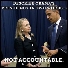 On Benghazi, on the VA scandal, on the IRS scandal...  Describe Obama's presidency in two words below.