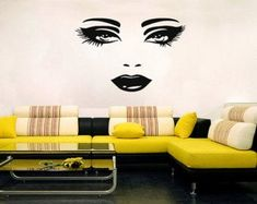 Vinyl Wall Decal Beauty Elegance Salon Hair Barbershop Spa Stickers ig2128