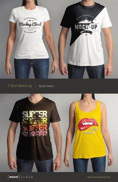 T-Shirt Mock-Up Set by Mockup Cloud on @creativemarket