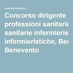 Concorso dirigente professioni sanitarie infermieristiche, Benevento
