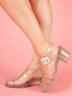 87444e799950d8 Must find clear jelly sandals this summer Jelly Sandals