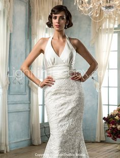 Lanting Bride® Trumpet / Mermaid Petite / Plus Sizes Wedding Dress - Classic & Timeless / Glamorous & Dramatic Vintage Inspired / Open 2017 - $169.99