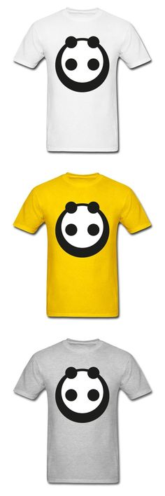 2018 Plain Oversized  Men T Shirt Full Cotton No Loose Tops & Tees Simple Style Cute Chinese Panda Print T-Shirts For Student
