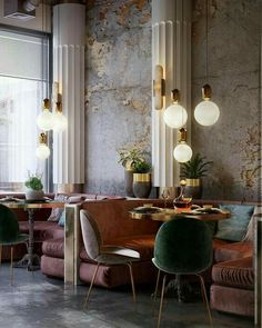 - Modern Interior Designs - Get to Know The New Luxury Restoration Hardware Store The new Restoration Hardware Store, or RH, is . Restaurant Design, Decoration Restaurant, Deco Restaurant, Restaurant Ideas, Restaurant Bathroom, Pub Decor, Restaurant Lighting, Modern Restaurant, Kitchen Decor