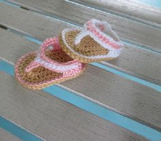 Baby  Shoes Crochet  Flip Flops  Handmade Sandals  by bjsknits, $9.50