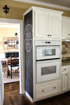 I like that plate above the cook top....adds a little something!