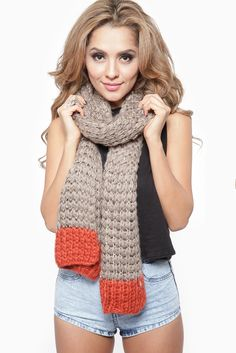 Sequin Knit Two Tone Oblong Scarf @ Cicihot scarf Online Store,scarves,womens scarves,women's scarves,ladies scarves,scarves for women,cheap...