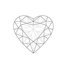 heart diamonds ink tattoo tattoo art pinterest