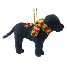 FELTED BLACK LAB ORNAMENT