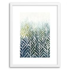 Minted for west elm - Evergreens | West Elm - Yao Cheng Watercolor Print
