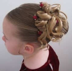 Easter updo~ perfect for little girls to run around and swirl with their cute Easter dresses