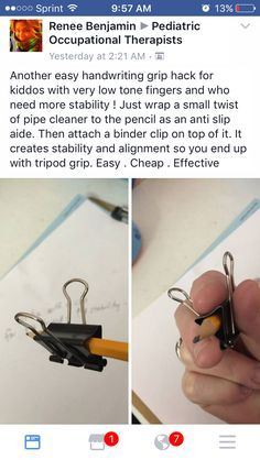Great Tip For Helping Students To Develop A Proper Pencil Grip Or