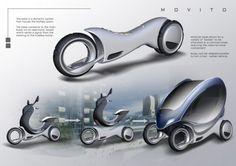 Voilà un dernier cri dans le monde de scooters, Movito, un deux roues électrique conçu pour la ville.  Il propose une maniabilité fluide tout en conservant une forme bien élégante. Il utilise un moteur électrique avec des batteries rechargeables. Movito dispose également d'un système qui permet de rattacher différentes options telles que le GPS et une interface à écran tactile. De plus, ce scooter en deux roues peut se transformer en un véhicule à quatre roues