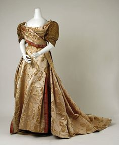 Evening dress  House of Worth  Date: ca. 1889  Medium: [no medium available]Accession Number: C.I.59.20