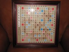Personalized Scrabble Board Wall Art Framed Picture Home Interior Decor. $49.00, via Etsy.