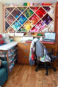 yarn organization...but for the sewing craft room instead.