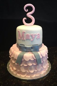 Princess Dress Birthday Cake... Perfect for baby boos 3 rd bday!!!