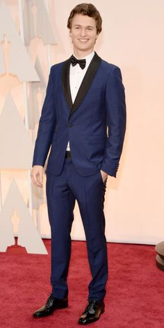 Let's all take a moment and notice how adorable Ansel Elgort is in this Prada suit.