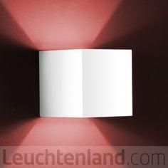 Helestra Siri Wandleuchte mattweiß - quadratisch - Leuchten & Lampen | Leuchtenland.com