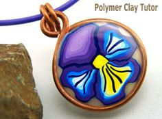 Polymer Clay Pansy