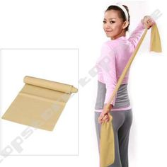 Beige 1.2m Yoga Pilates Stretch Resistance Exercise Workout Band - £1.68 - others colours are more expensive, but they all do the same job!