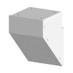 Mid / End / Stair Fascia Mount Bracket White - allows Posts to be anchored to the fascia of the deck or balcony instead of the deck top - DIY Aluminum Railing System.