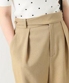 パンツ Trousers Women Outfit, Pants For Women, Clothes For Women, Skirt Pants, Shorts, Fashion Pants, Fashion Outfits, Fashion Details, Fashion Design