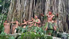 Traditional dances performed under an ancient banyan tree.  #Aranui #Marquesas #adventure