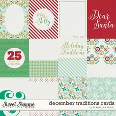 December Traditions Journal Cards by Tickled Pink Studio
