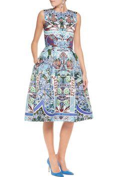 Mary KatrantzouPrinted satin dressfront