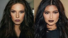 Brown Lips Kylie Jenner Inspired Makeup