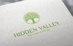 Hidden Valley Logo Design Identity Branding Green Eco Nature Spa Day