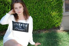 UNF#^K THE PLANET - Beverly, Large Crew Long Sleeves. By Factionem Los Angeles CA. 100% Pima Cotton