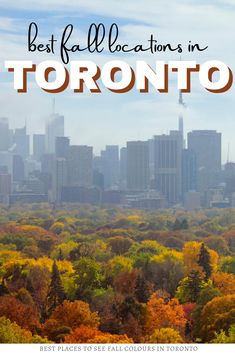 Are you looking for the best places in Toronto for fall colours? Here are 10 incredible fall locations in Toronto for all your fall foliage leaf peeping! I where to go in Ontario I places to go in Ontario I fall in Ontario I autumn in Ontario I Ontario in fall I Ontario fall colours I Toronto in fall I where to go in Ontario in Fall I Ontario travel I autumn in Toronto I where to go in Toronto in autumn I fall colours in Toronto I autunm in Ontario I fall in Toronto I #Ontario #Canada… Ontario Travel, Toronto Travel, Cool Places To Visit, Places To Travel, Travel Destinations, Alberta Canada, Canada Travel, Travel Usa, Quebec