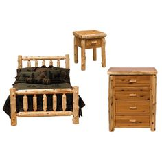 We Carry This Fireside Lodge Traditional Cedar Log Bedroom Package And  Other Fine Cedar Log Furniture