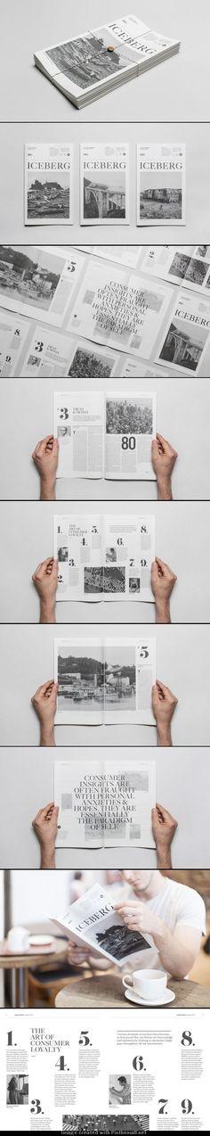 Grid #Design References | Abduzeedo Design #Inspiration #graphisme #édition #mise en #page #pliage