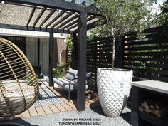 Diy Pergola, Pergola Screens, Corner Pergola, Outdoor Life, Outdoor Fun, Summer Garden, Home And Garden, Rooftop Design, Outdoor Pavilion