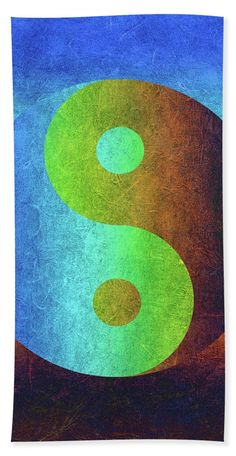 Yin and Yang Symbol in earthy colors Towel (Beach Towel x by Western Exposure. Our towels are great. Working Drawing, Distressed Texture, Thoughtful Christmas Gifts, Large Beach Towels, Sign Display, Us Beaches, Love Signs, Yin Yang, Basic Colors