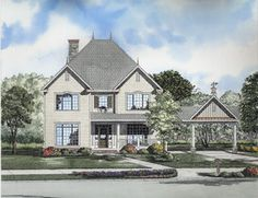Victorian House Plan chp-25708 at COOLhouseplans.com