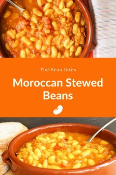 This loubia recipe is an easy-to-make version of stewed Moroccan beans. Made with canned white beans, it's the perfect side dish or starter to accompany Moroccan cuisine or roasted meats. It's also entirely vegan and made in less than 30 minutes. Easy | Tasty | One Pot | Vegetarian | Lentil Stew, Bean Stew, One Pot Vegetarian, Vegetarian Recipes, Moroccan Stew, White Bean Recipes, Chicken Broth Can, Vegan Side Dishes, Spicy Chili
