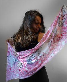 Likecrazy Damen langer Druck-Schal Seidentuch//Seidenschal Halstuch Eleganter Sommer-Schal Stilvoll Muster Chiffon Lichtschutz-Schal