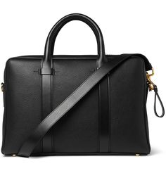 The elegance of TOM FORD's 'Buckley' bag is in the simplicity of its design and the quality of the materials used. This piece has been made in Italy from contrasting pebbled and smooth leather and is finished with substantial gold hardware for a luxurious look and feel. Carry yours against black suiting.