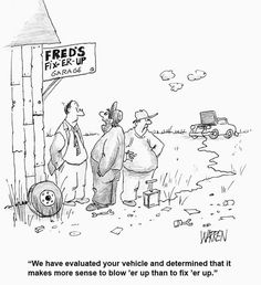 Herald-Leader business cartoonist Jim Warren draws an auto repair gone wrong.Definitely not what a customer wants to hear! Mechanic Humor, Borrow Money, Christmas Ad, Holiday Centerpieces, Photo Search, Pinterest Photos, Cartoon, Repair Shop, Car Repair