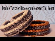 Monster Tail DOUBLE TWIZZLER Bracelet. Designed and loomed by Cheryl Mayberry. Click photo for YouTube tutorial. 05/16/14.