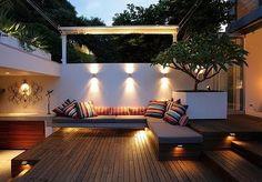 A wonderful modern patio by Secret Gardens of Sydney. [via the cottage cheese] #deck #patio #yard #backyard #garden