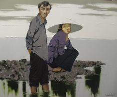Artist - Lim Khim Katy   Title - Flood Season Media - Oil on Canvas Size - 100cm x 120cm Status - Private Collection Taiwan